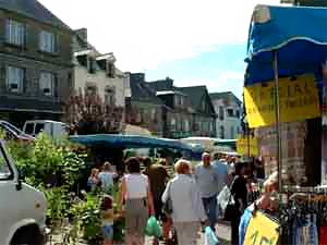 Market day at Rostrenen